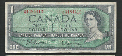 Canada 1954 (1961-72) 1 Dollar P 75b Circulated