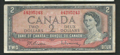 Canada 1954 (1961-72) 2 Dollars P 76b Circulated