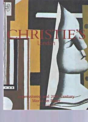 Christies Auction London 2000 Impressionist and 20th Century Works on Paper