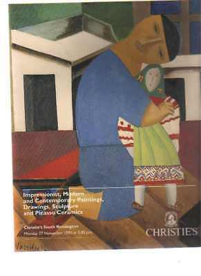 Christies November 1995 Impressionist Modern Pictures, Drawings,Picasso Ceramics