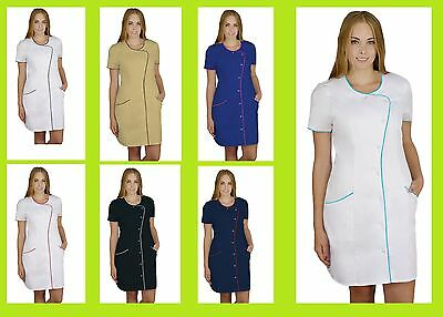 Agnes Long Tunic Nurses Women Uniform Dentist Catering Salon SPA Clinic Doctor
