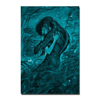 The Shape of Water Movie Silk Fabric Poster Wall Art Prints 12x18 24x36 inch