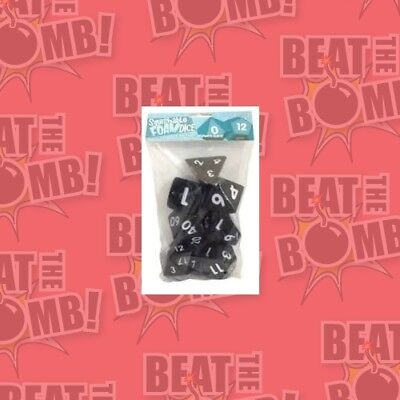 Squishy Dice Set, Black (2' Set Of 7 Polyhedral Dice)  - BRAND NEW