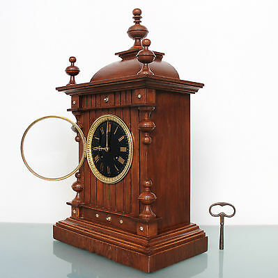 FRENCH JAPY FRERES CLOCK Mantel TOP! Condition Mahogany Antique Shelf BELL Chime