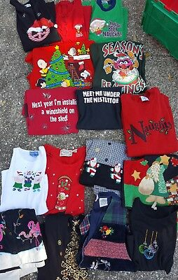 Lot Christmas holiday shirts t-shirts vests ugly Snoopy funny all sizes