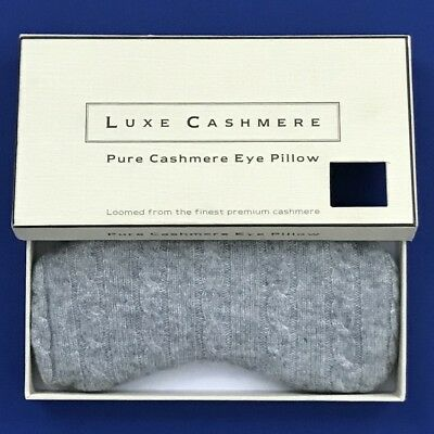 NIB Luxe Pure Cashmere Hot/Cold Sleep Eye Pillow Mask -- FINAL SALE