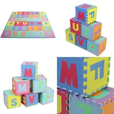 36Ft Alphabet &Amp; Number Floor Mat Foam Puzzle Play Kid Educational Soft Game