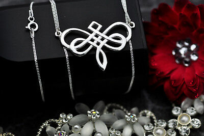 Dragonfly Celtic Infinity Knot Sterling Silver pendant charm with necklace New