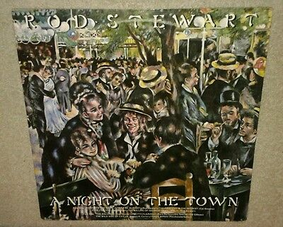 ROD STEWART, A NIGHT ON THE TOWN 1976 VINYL LP play-test VG+, 1st Cut is Deepest