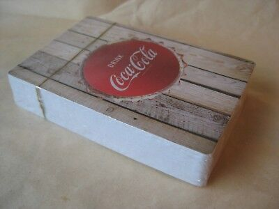 Coca Cola Playing Cards Drink Cap Barn Wood Barnwood New in Plastic