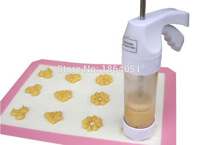 Baking pastry Tools Cookie Mold Press Gun , 12 Flower Mold + 6 Pastry Tips biscu