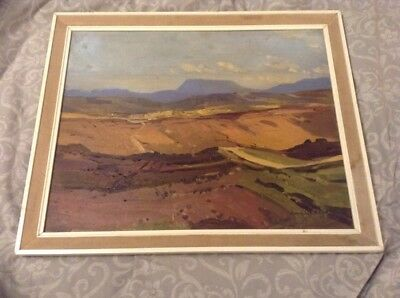 Vintage Oil On Board By Irish Artist Gerald J A Carson Of Muckish Donegal