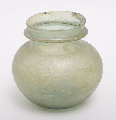 Ancient Roman Glass Jar c.1st-2nd century AD. Size 2 3/4 inches high.