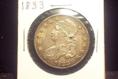 1833 Early Bust Half - VF / EF  Condition