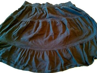 Old navy Women's maternity skirt size medium black cotton peasant style Mini
