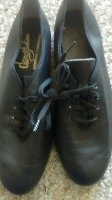 Women's Size 5.5 Black Leather Dance Shoes by Dance Fashions in EUC!