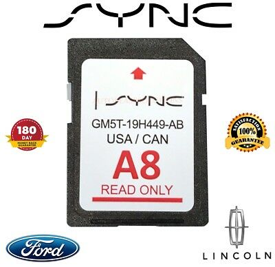 A8 Ford Lincoln Us Canada Sync Navigation Sd Card 2018 Map Update Gm5T-19H449-Ab