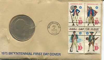 """1975 Bicentennial Medal """"Paul Revere"""" With FDC (HM1217)"""