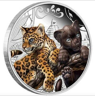 The Cubs-JAGUAR  silver proof coin Tuvalu  2016 Perth Mint new series