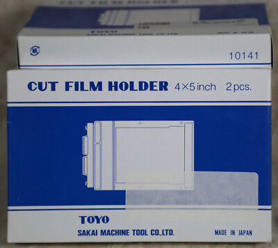 Toyo 4x5 Cut Film Holders 2 each NEW IN BOX
