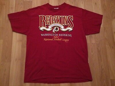1996 Washington Redskins T Shirt Mens Xxl 2Xl Burgundy Gold Locker Line Nfc