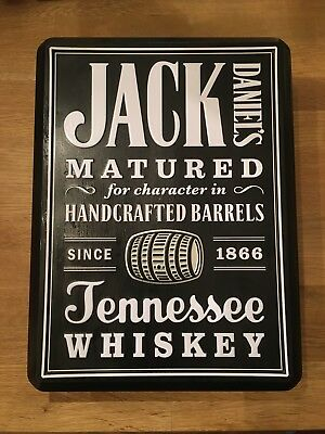 JACK DANIELS Old No7 Whiskey Collector Metal Tin Can Box (Empty)