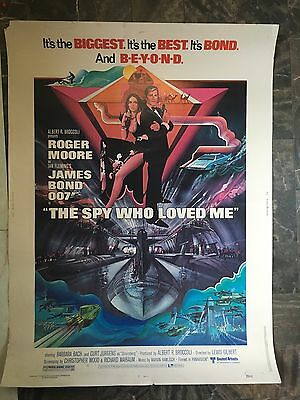 Vintage Movie Poster James Bond 007 The Spy Who Loved Me