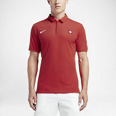 Nike Men's Court Roger Federer Advantage Red Cross Tennis Polo Shirt 802203 657