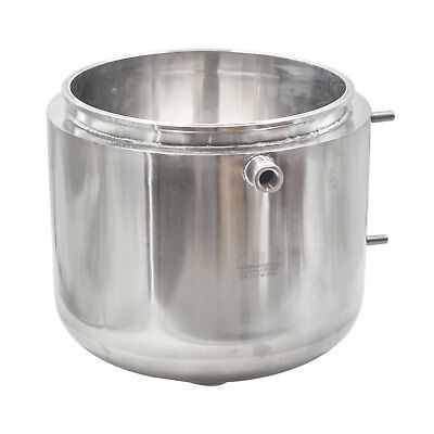 "HFS 304 Stainless Steel Base Container 12"" diameter by 8"" tall with Round Base"