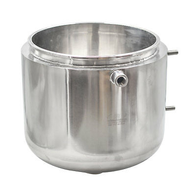 "HFS(R) 12"" Jacketed Honey Pot Oil Collector with Bottom Pour Spout SS304"