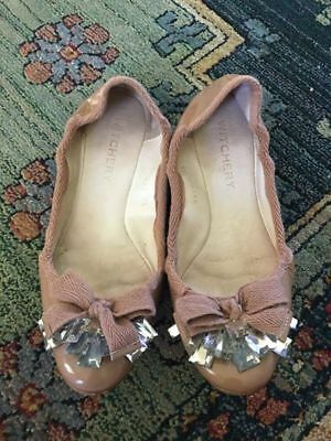 WITCHERY blush patent leather flats with gems// size 38 (7)