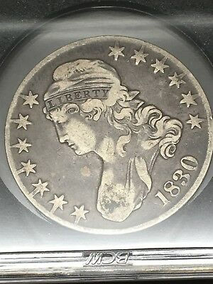 1830 (Large 0 Variety) Capped Bust Half Dollar - Solid Details