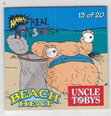 *UNCLE TOBYS BEACH HEAT FLIPCARDS.No13.AAHH REAL MONSTERS.*
