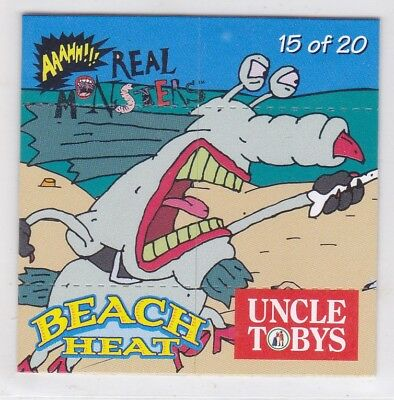 *UNCLE TOBYS BEACH HEAT FLIPCARDS.No15.AAHH REAL MONSTERS.*