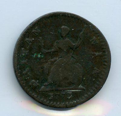 Weeda Great Britain 1773 farthing, copper, KM #602, see scans