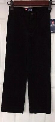 Ralph Lauren Chaps Classic Chinos Black Dress Pants Boy's 6 NWT