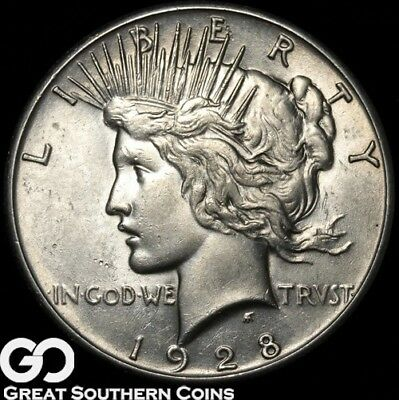 1928 Peace Dollar, Series Low Mintage, Choice BU++ Key Date ** Free Shipping!
