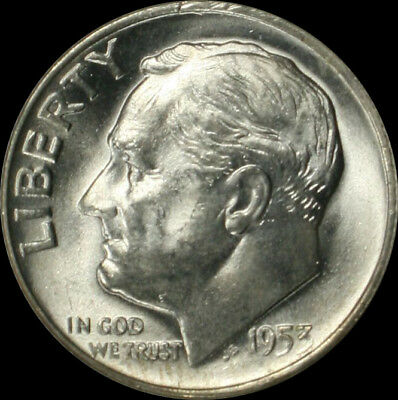 1953-d Roosevelt Silver Dime Brilliant Uncirculated