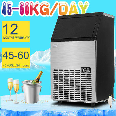 Commercial ICE Cube Maker Machine for Home Business Fast Easy Auto 60Kg per Day