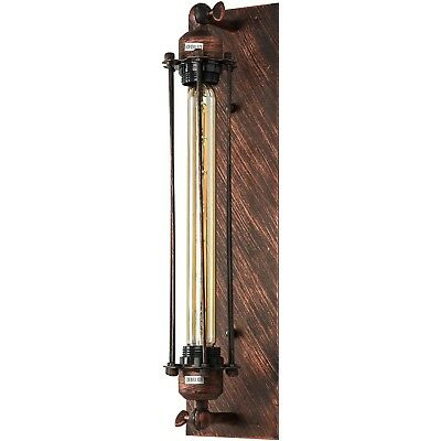 UL Listed Wall Sconce Vintage Antique Style Fixture, Iron Rust Finish With BULB