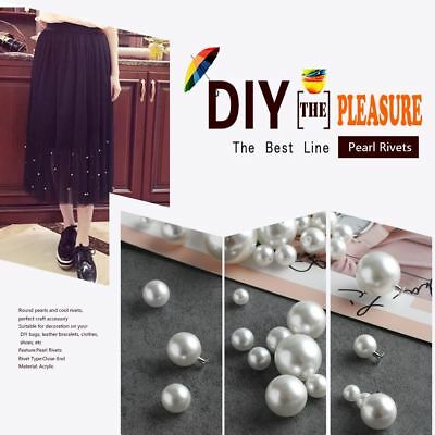 Hot Pearl Rivets For DIY Scrapbooking Decoration Clothes Pants Hat Bag Shoes
