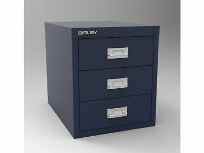 Bisley Filing Cabinet - 3 Drawer Prussian Blue - Brand New - Free 24H Delivery