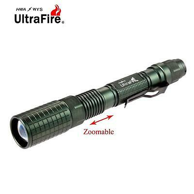 Ultrafire Zoomable  X-XML T6 60000LM LED Flashlight 18650 Battery Torch BR