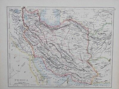 Map of Persia. 1892. Johnston. IRAN. ASIA. TEHRAN