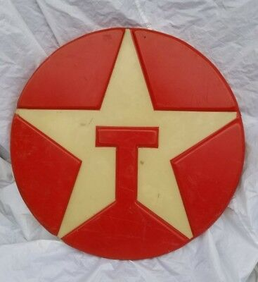 "Vtg 33"" Texaco Oil Sign Gas Station Collectable"