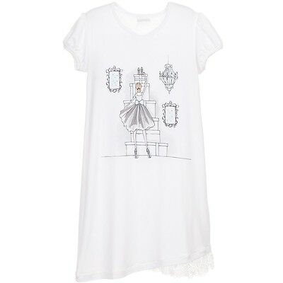 La Perla Baby Luxury White Modal Jersey Nightie 2 Years