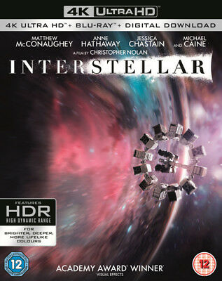 Interstellar Blu-Ray (2017) Matthew McConaughey ***NEW***