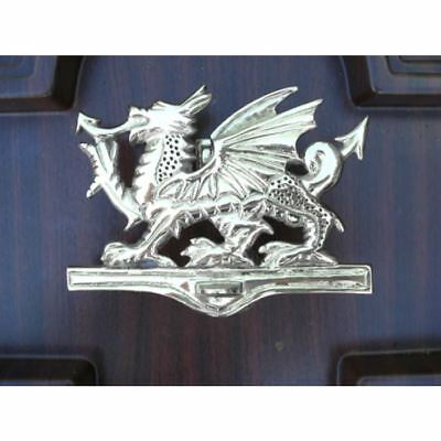 Bright Chrome Welsh Dragon Door Knocker  - Supplied With Fixings