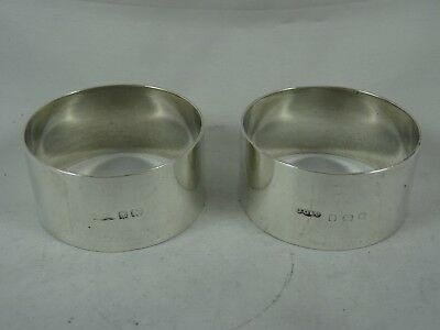 PAIR , SOLID silver NAPKIN RINGS, 1934, 49gm