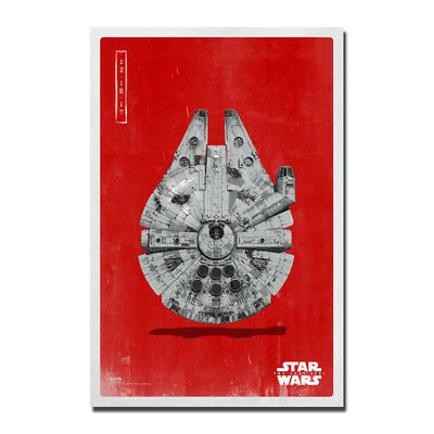 Star Wars The Last Jedi X-Wing Millennium Falcon Movie Silk Fabric Poster Print